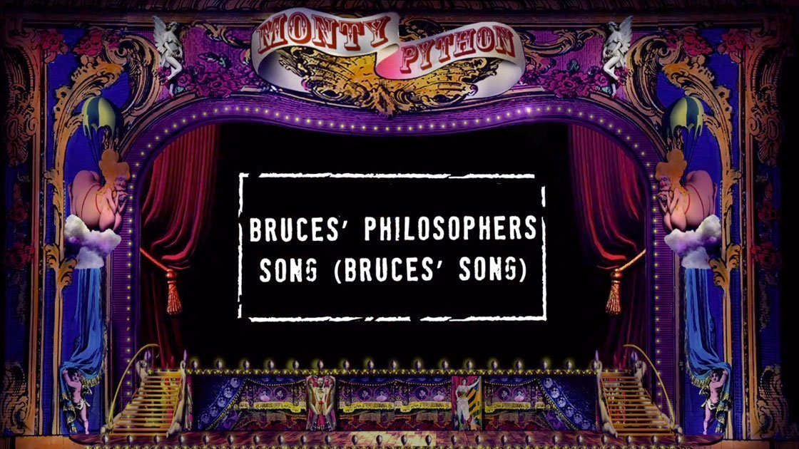 "image for article ""Bruces' Philosophers Song (Bruces' Song)"" - Monty Python [YouTube Lyric Video]"