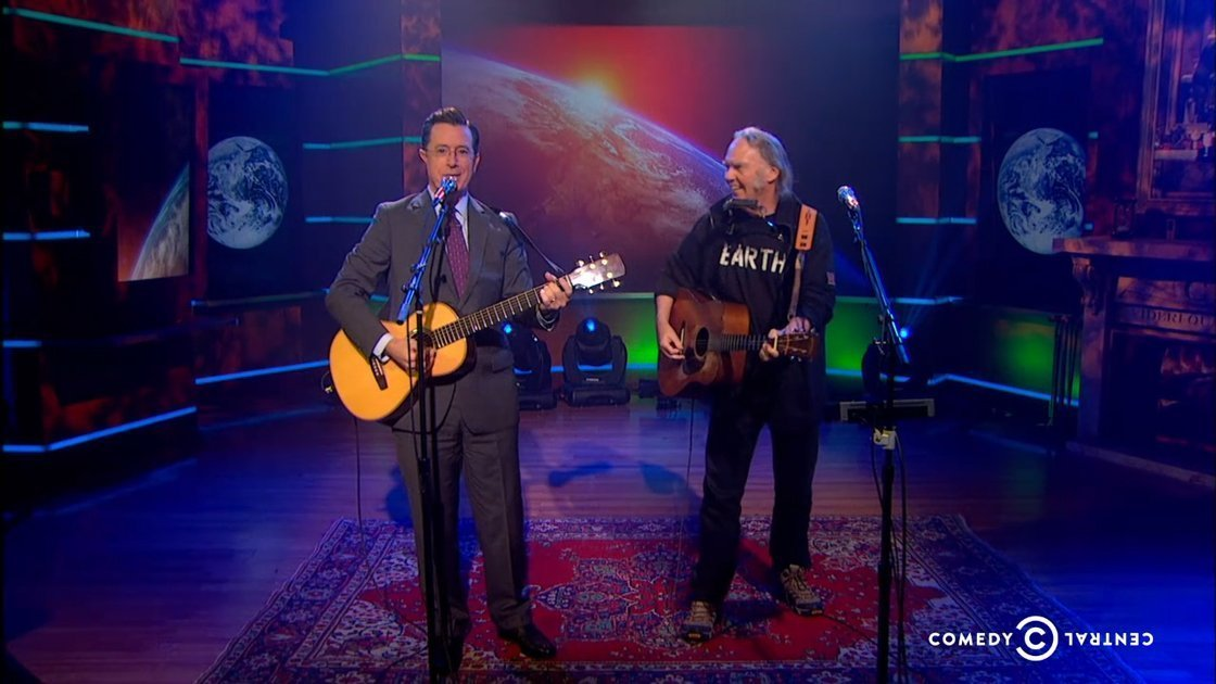 neil-young-stephen-colbert-report-performance-earth-2014-video
