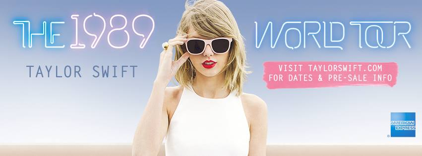 Taylor Swift 1989 World Tour 2015 Dates Ticket Pre Sales Announced Zumic Music News Tour Dates Ticket Presale Info And More