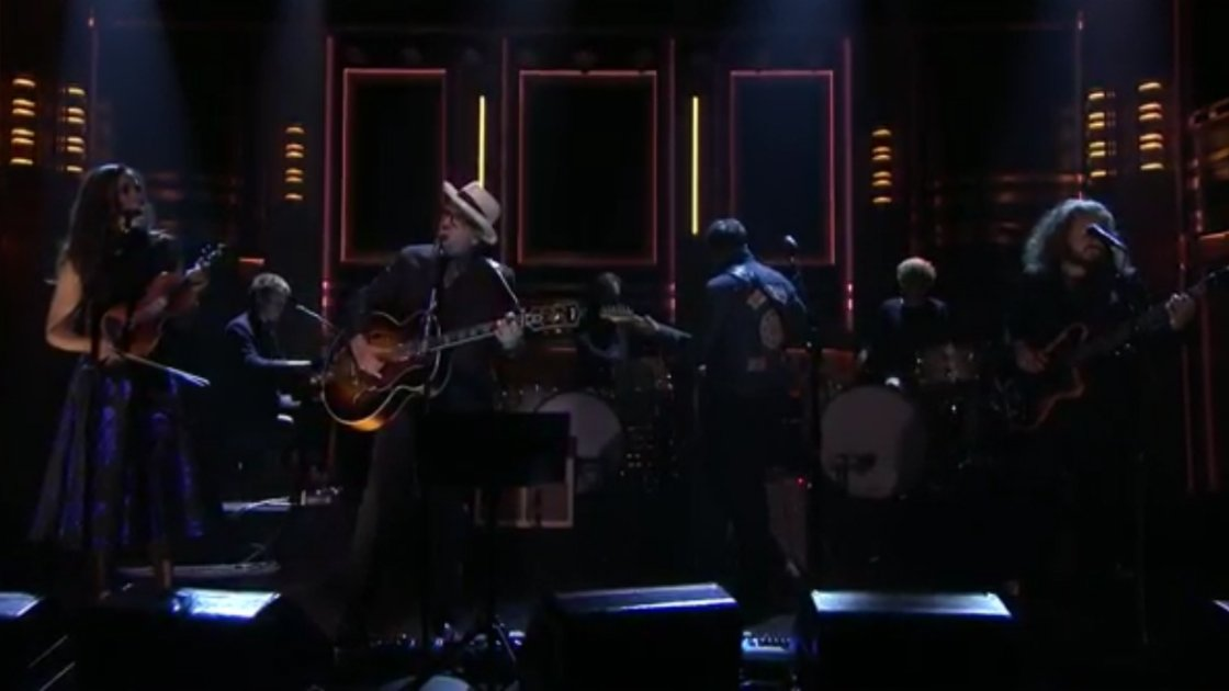 "image for article ""Lost On The River"" - The New Basement Tapes on The Tonight Show Starring Jimmy Fallon 11.10.2014 [Official Video + Lyrics]"