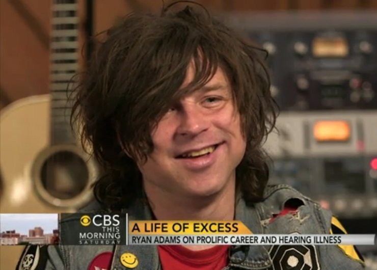 "image for article Ryan Adams Talks Music and Meniere's Disease in ""CBS This Morning"" Interview 12.27.2014 [CBS News Video]"