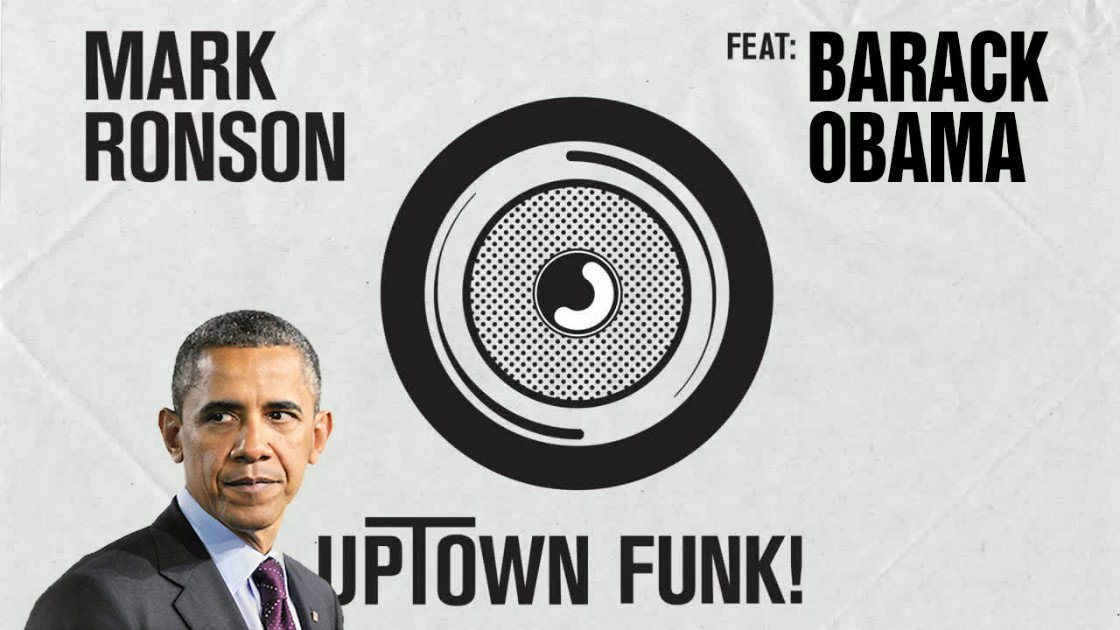"image for article Barack Obama Sings ""Uptown Funk"" by Mark Ronson & Bruno Mars [YouTube Video]"