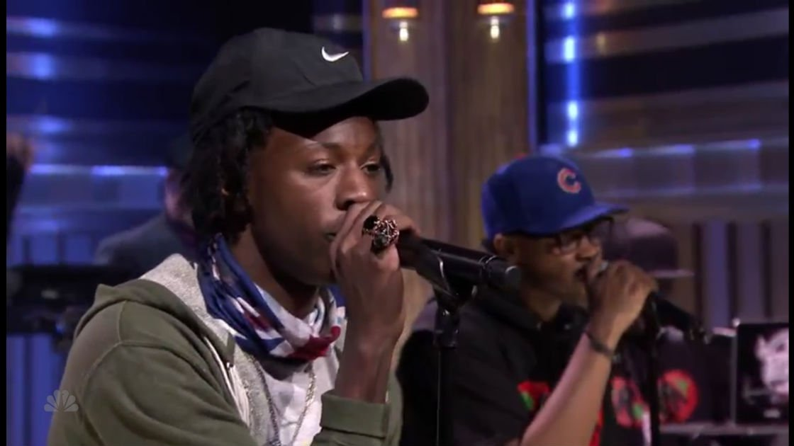 "image for article ""Like Me"" - Joey Bada$$ ft BJ The Chicago Kid & The Roots on The Tonight Show Starring Jimmy Fallon, 2015 [Video]"