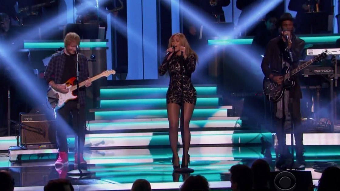 "image for article ""Fingertips, Master Blaster, Higher Gound"" Medley - Beyonce, Ed Sheeran & Gary Clark Jr. (Stevie Wonder Grammys Tribute) [YouTube Official Video]"