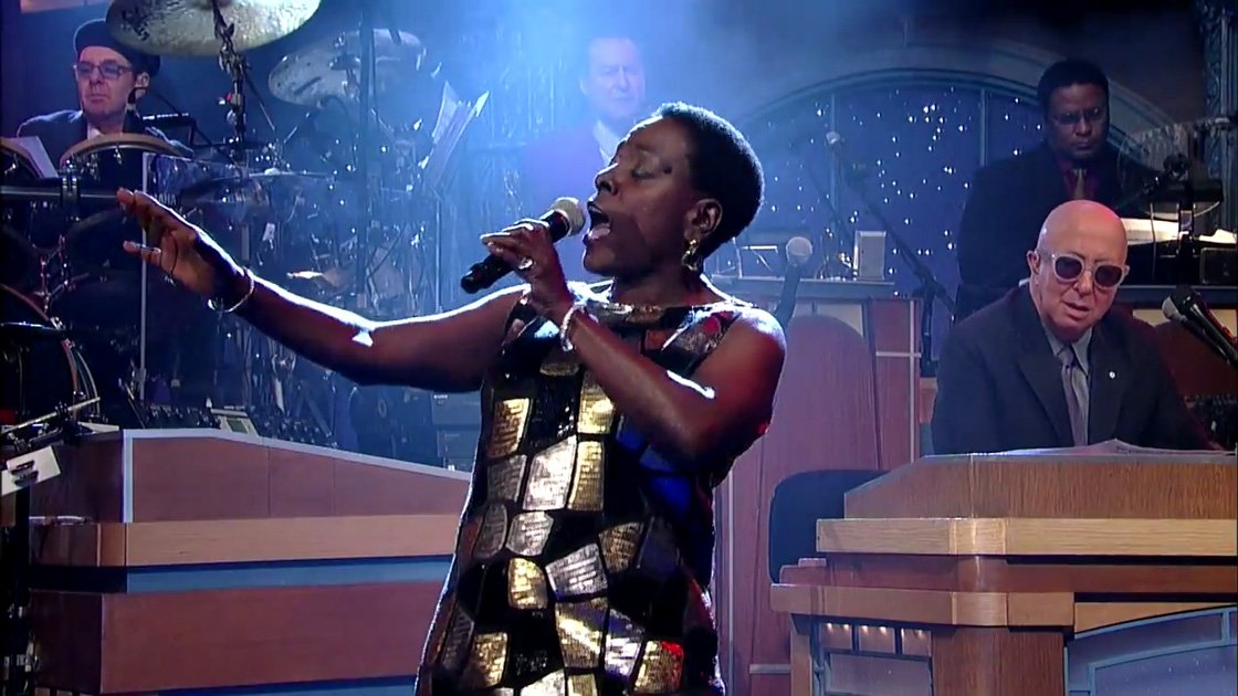 "image for article ""Making Up and Breaking Up"" - Sharon Jones on The Late Show with David Letterman 2.2.2015 [YouTube Official Video]"