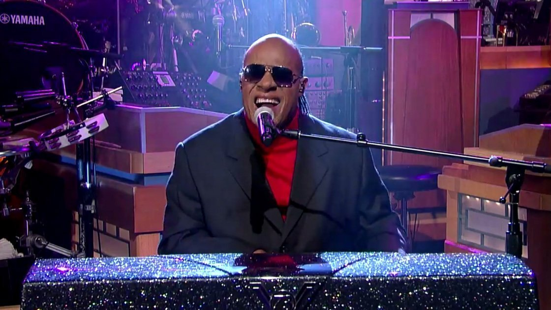 image for article Stevie Wonder Performance & Interview on The Late Show with David Letterman Mar 11, 2015 [YouTube Official Videos]