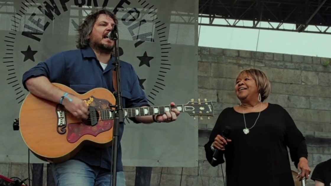 "image for article ""Wrote A Song For Everyone"" - Jeff Tweedy & Mavis Staples (John Fogerty Cover) at Newport Folk Festival Jul 27, 2014 [Official Video]"