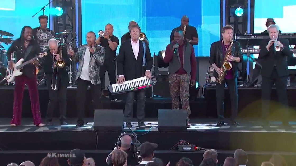 image for article Earth, Wind & Fire and Chicago Medley on Jimmy Kimmel Live April 23, 2015 [YouTube Official Video]