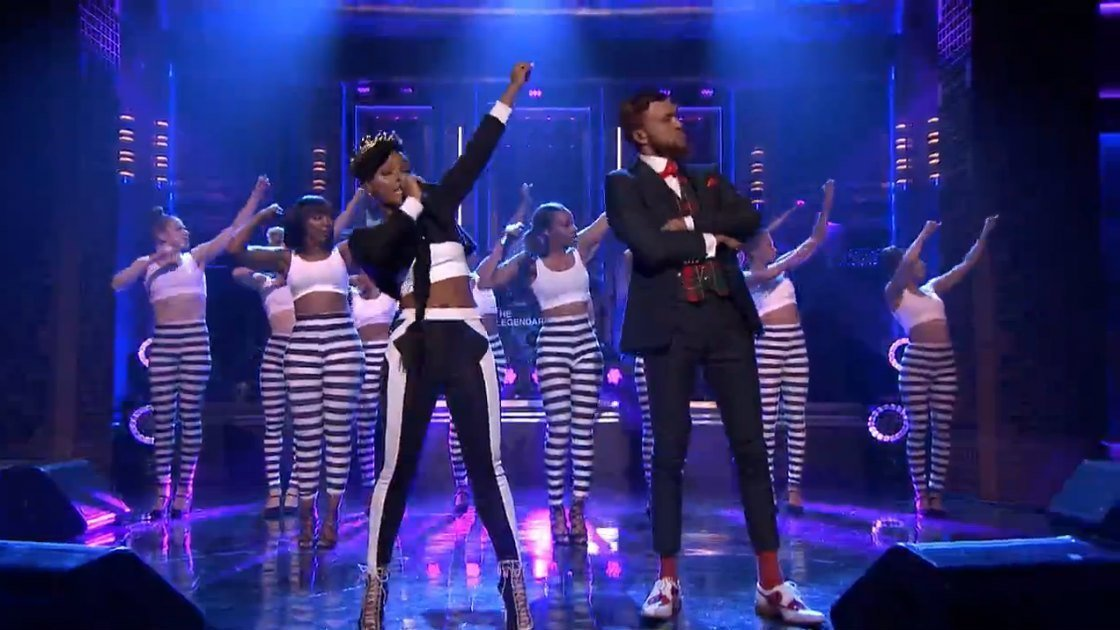 "image for article ""Yoga"" - Janelle Monae ft Jidenna & The Roots on The Tonight Show May 18, 2015 [NBC Video]"