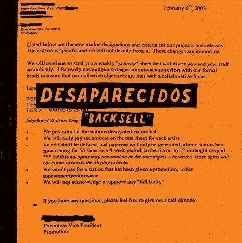 "image for article ""Backsell"" - Desaparecidos [YouTube Official Audio Stream]"