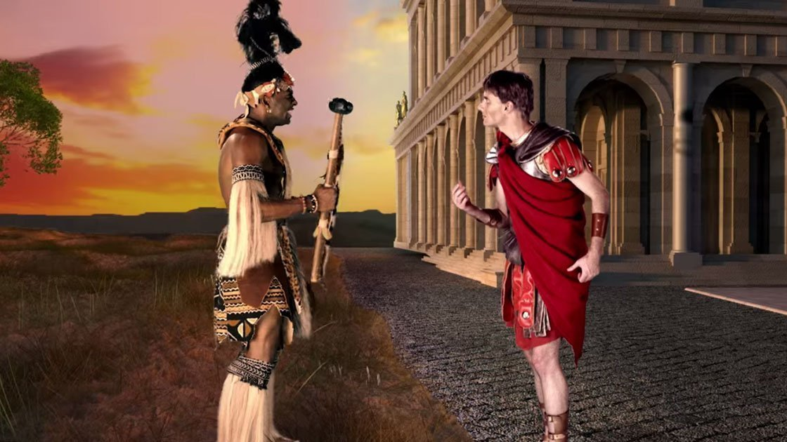 "image for article ""Shaka Zulu vs Julius Caesar"" - Epic Rap Battles of History [YouTube Official Music Video]"