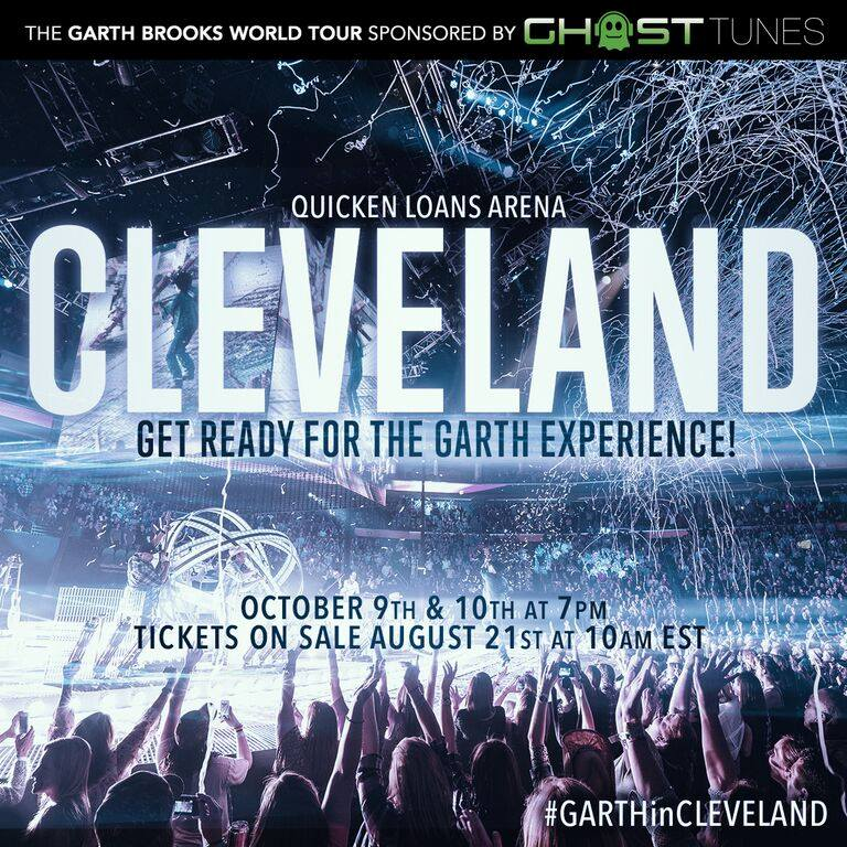 image for article Garth Brooks Bringing Record Setting 2015 Tour to Cleveland's Q Arena in October