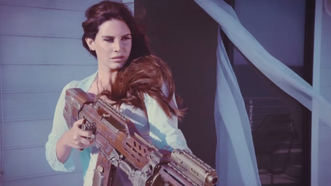 lana-del-ray-high-by-the-beach-music-video-gun