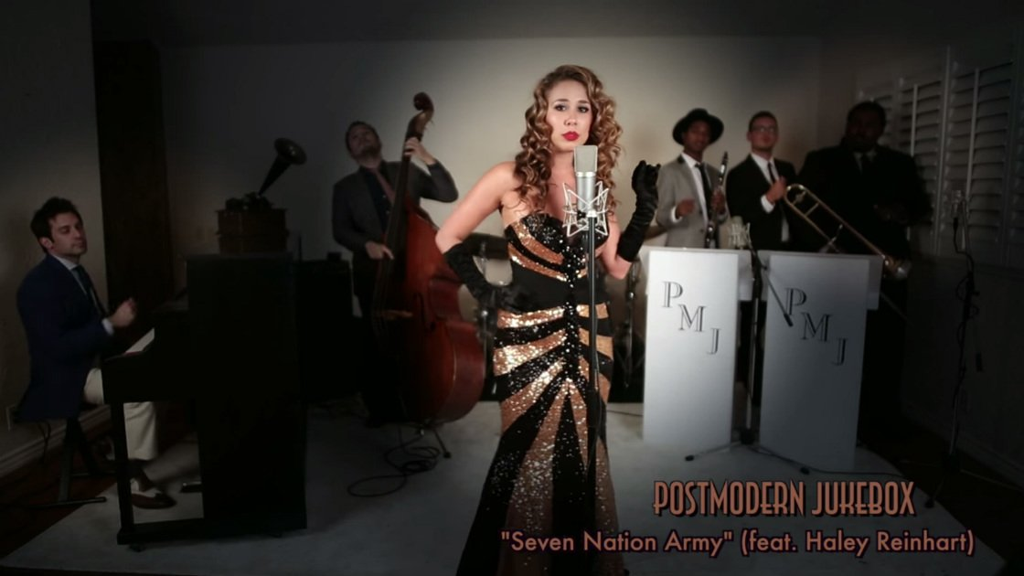 "image for article ""Seven Nation Army"" - Postmodern Jukebox ft Haley Reinhart [YouTube Official Music Video]"
