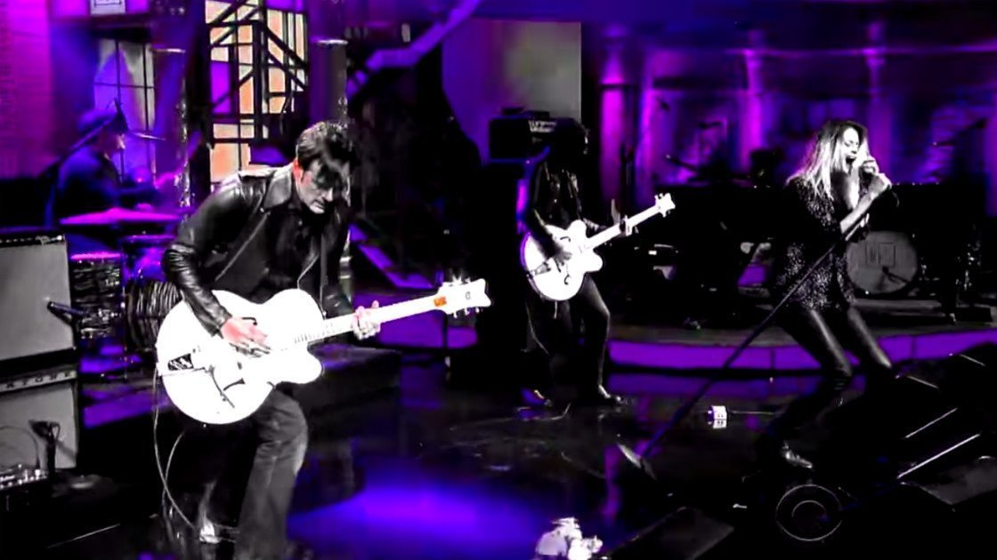 "image for article ""I Feel Love (Every Million Miles)"" – The Dead Weather on The Late Show with Stephen Colbert Sep 14, 2015 [YouTube Official Video]"
