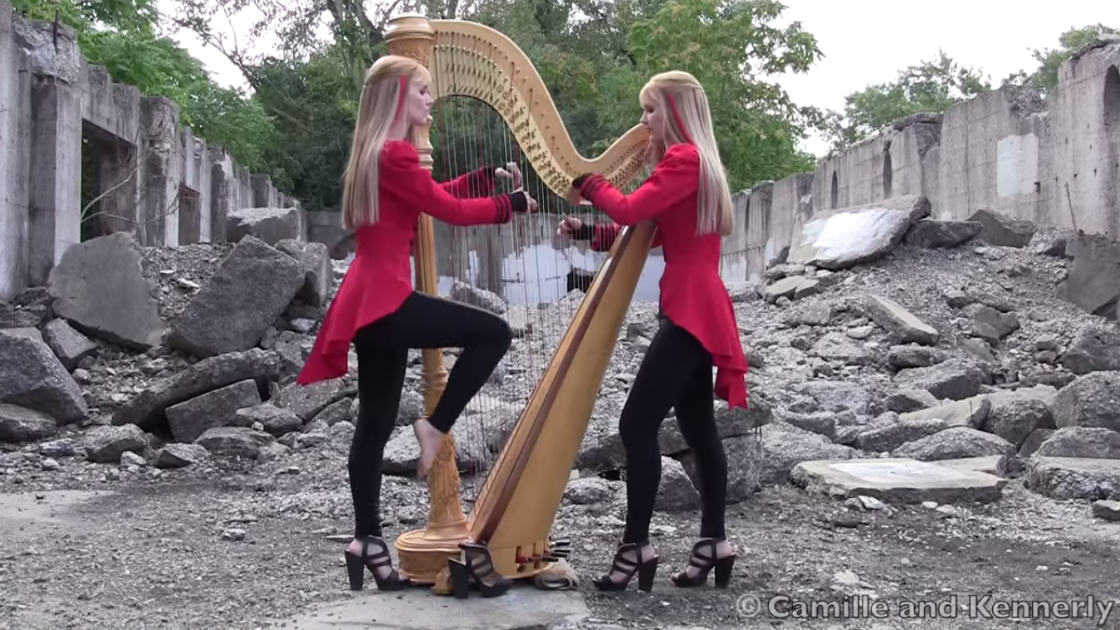 "image for article ""One"" - The Harp Twins (Metallica Cover) [YouTube Official Video]"