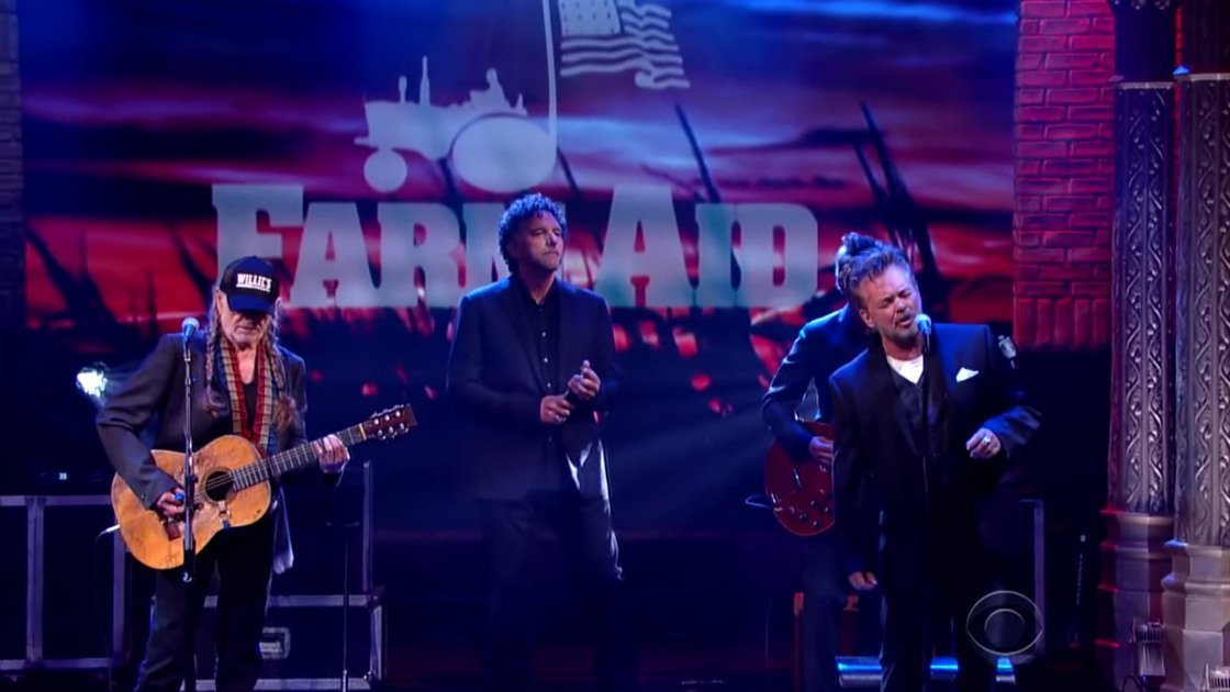 "image for article ""Night Life"" - Willie Nelson & John Mellencamp on The Late Show With Stephen Colbert on September 16, 2015 [YouTube Official Video]"