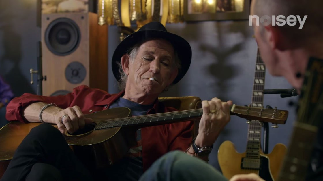 "image for article Keith Richards Talks Influences and Musicianship with Noisey's ""Guitar Moves"" [YouTube Official Video]"