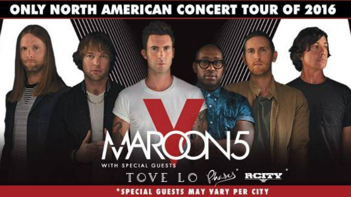 Maroon 5 tour dates 2015