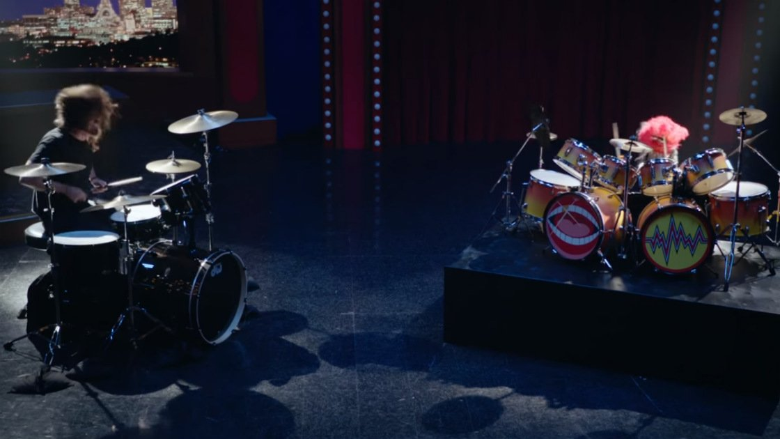 image for article Watch Dave Grohl's Awesome Drum-Off with The Muppets' Animal [YouTube Official Video]