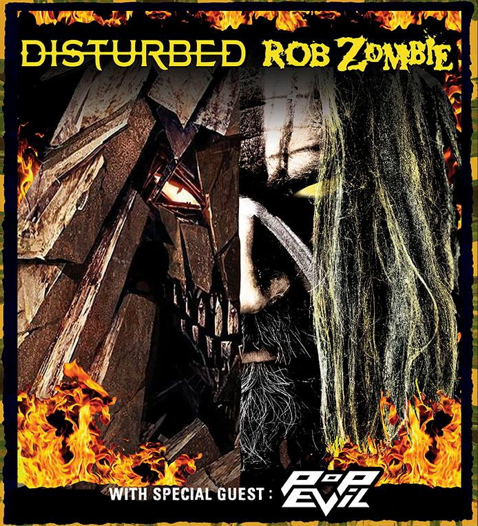 image for article Disturbed and Rob Zombie Join for 2016 Tour Dates