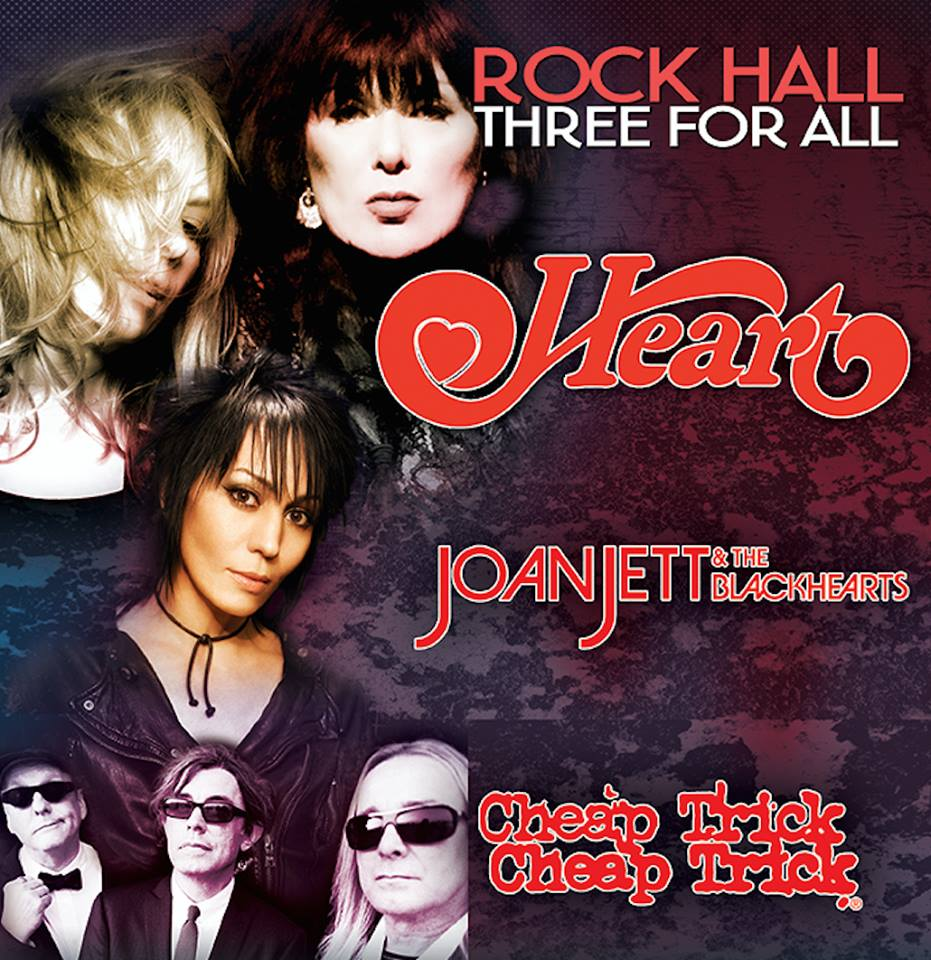"image for article Heart, Joan Jett & The Blackhearts, and Cheap Trick Plan ""Rock Hall Three For All"" 2016 Tour Dates"