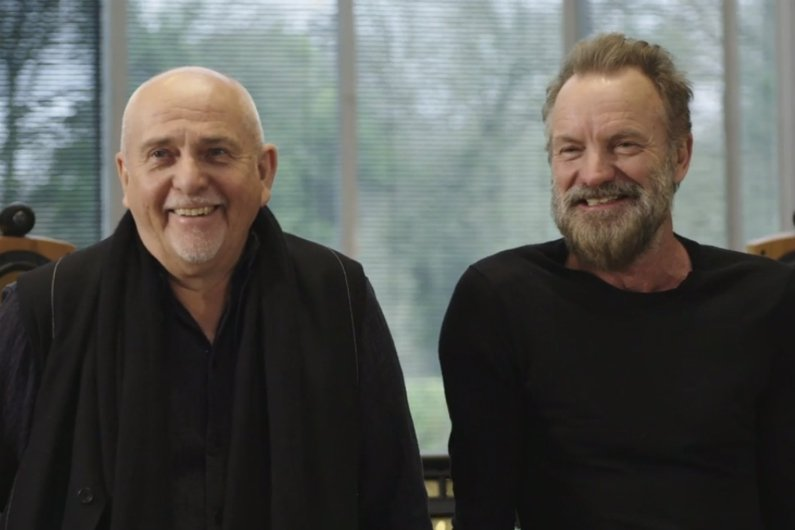 "image for article Sting and Peter Gabriel Plan ""Rock Paper Scissors"" 2016 Tour Dates: Ticket Presale Code Info"