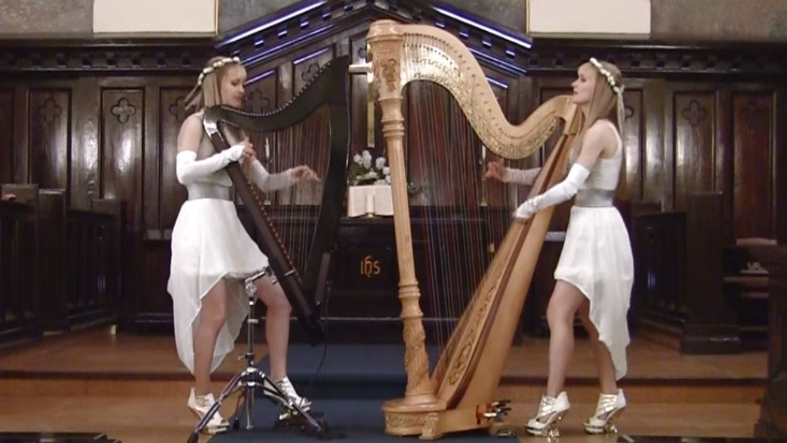 "image for article ""White Wedding"" - The Harp Twins (Billy Idol Cover) [YouTube Official Video]"