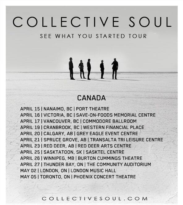 image for article Collective Soul Add 2016 Tour Dates For Canada: Ticket Presales Happening Now
