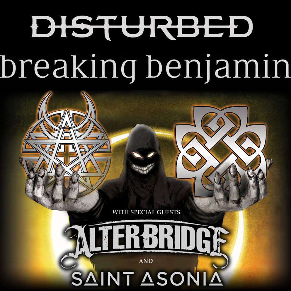 image for article Disturbed and Breaking Benjamin Will Be Co-Headlining 2016 Tour Dates: Ticket Presale Code + Info