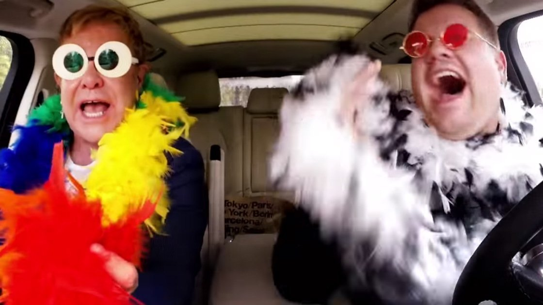 image for article Elton John Sings and Discusses Legendary Career with James Corden During 'Carpool Karaoke' [YouTube Official Video]