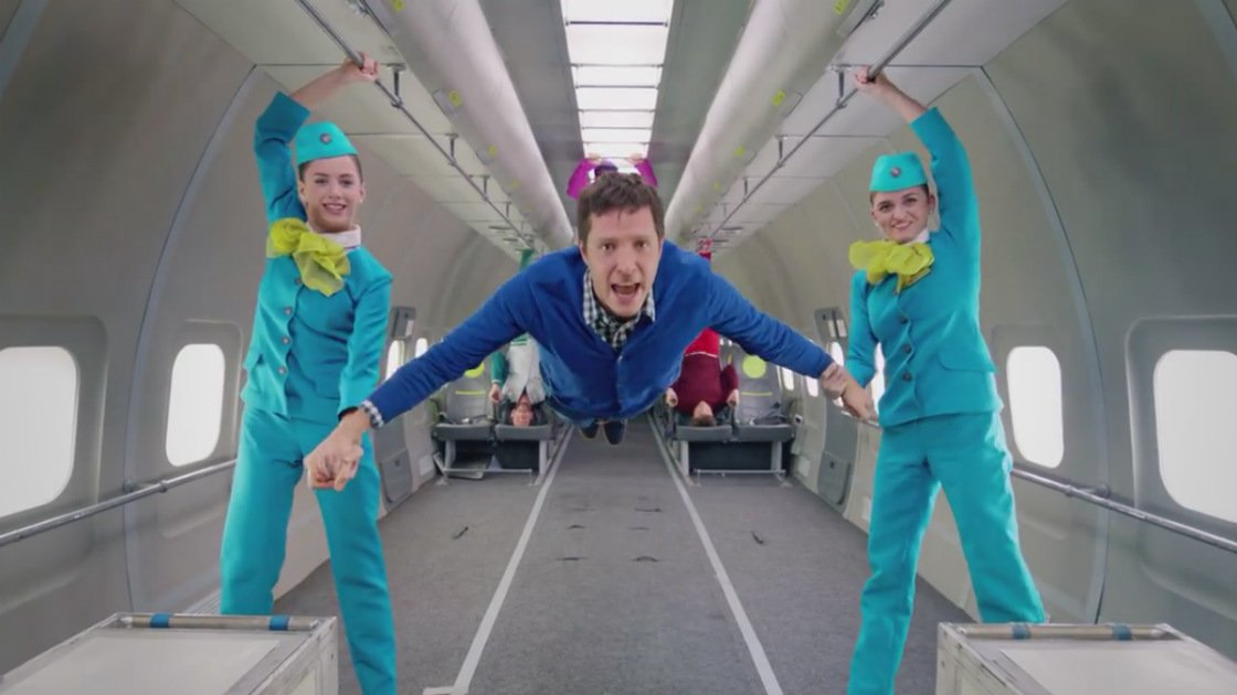 "image for article ""Upside Down & Inside Out"" - OK Go [YouTube Official Music Video + Behind-The-Scenes]"