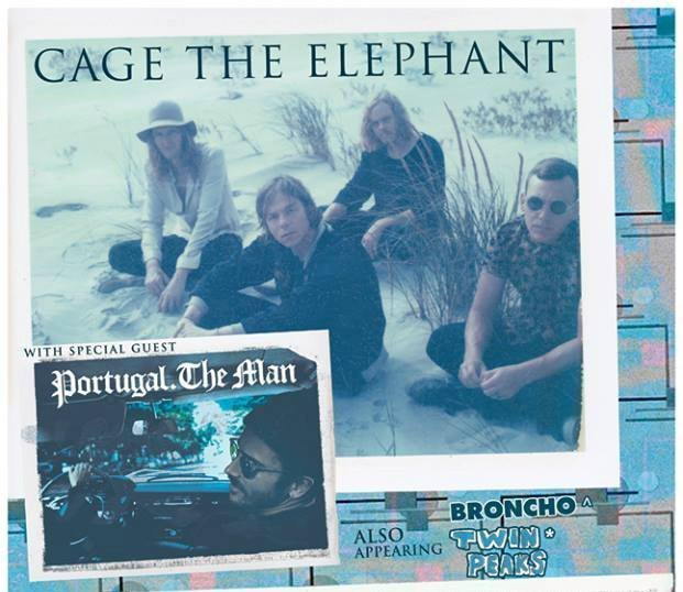 image for article Indie Rockers Cage the Elephant and Portugal. The Man Set 2016 Tour Dates with Broncho and Twin Peaks: Ticket Presale Code Info