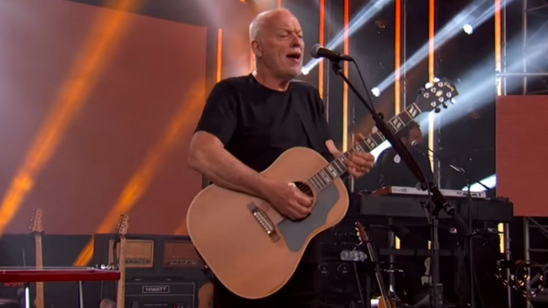 "image for article ""Rattle That Lock"" & ""Wish You Were Here"" - David Gilmour on Jimmy Kimmel Live, March 28, 2016 [YouTube Official Videos]"