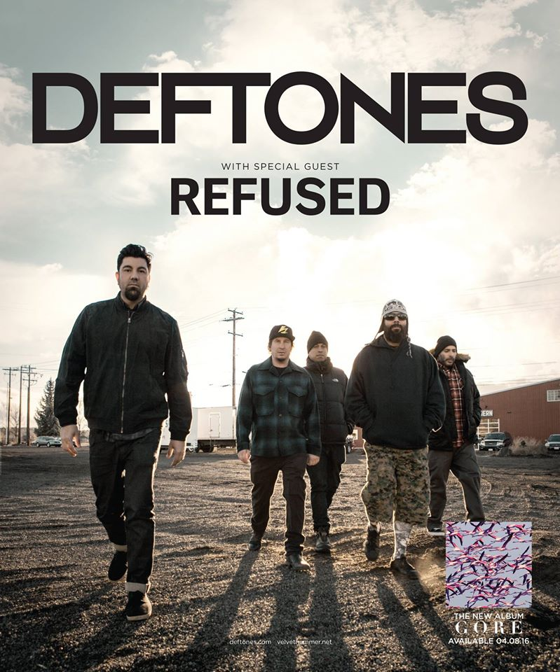 image for article Deftones Add 2016 Summer Tour Dates with Refused: Ticket Presale Codes + Info