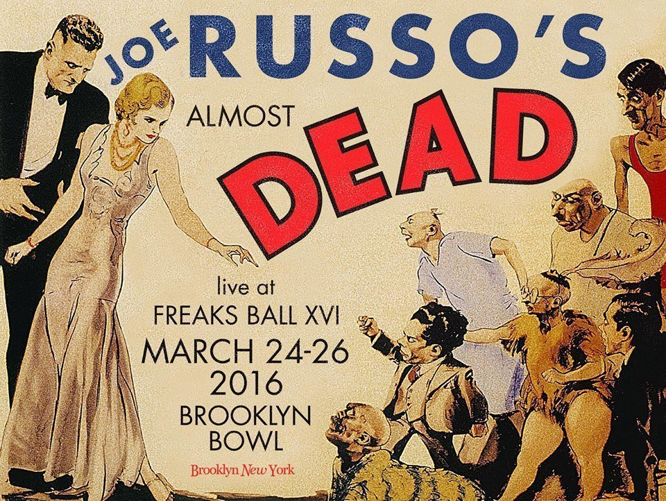 "image for article Listen to Joe Russo's Almost Dead ""Freaks Ball XVI"" Explosive Concerts from the NYC Brooklyn Bowl - March, 2016 [SoundCloud Full Audio Streams]"