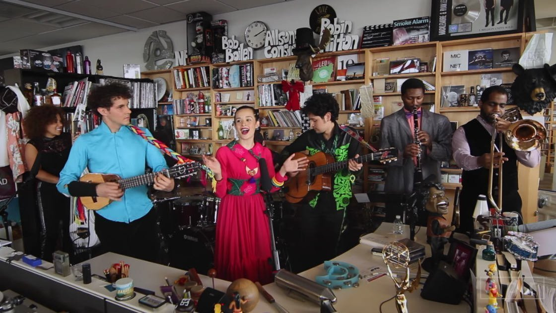 image for article Watch Monsieur Periné's Exotic NPR Music Tiny Desk Concert [Official YouTube Video]