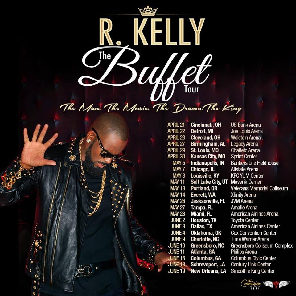 image for article R. Kelly Sets 2016 'The Buffet' Tour Dates: Ticket Presale Code Info