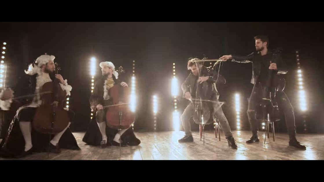 "image for article ""Whole Lotta Love vs 5th Symphony""  - 2CELLOS (Led Zeppelin & Beethoven Mashup) [YouTube Official Music Video]"