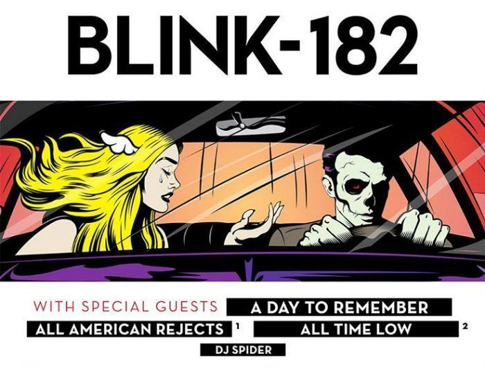 image for article Blink-182 Sets 2016 Tour Dates with A Day To Remember, All-American Rejects, and All Time Low: Ticket Presale Code Info