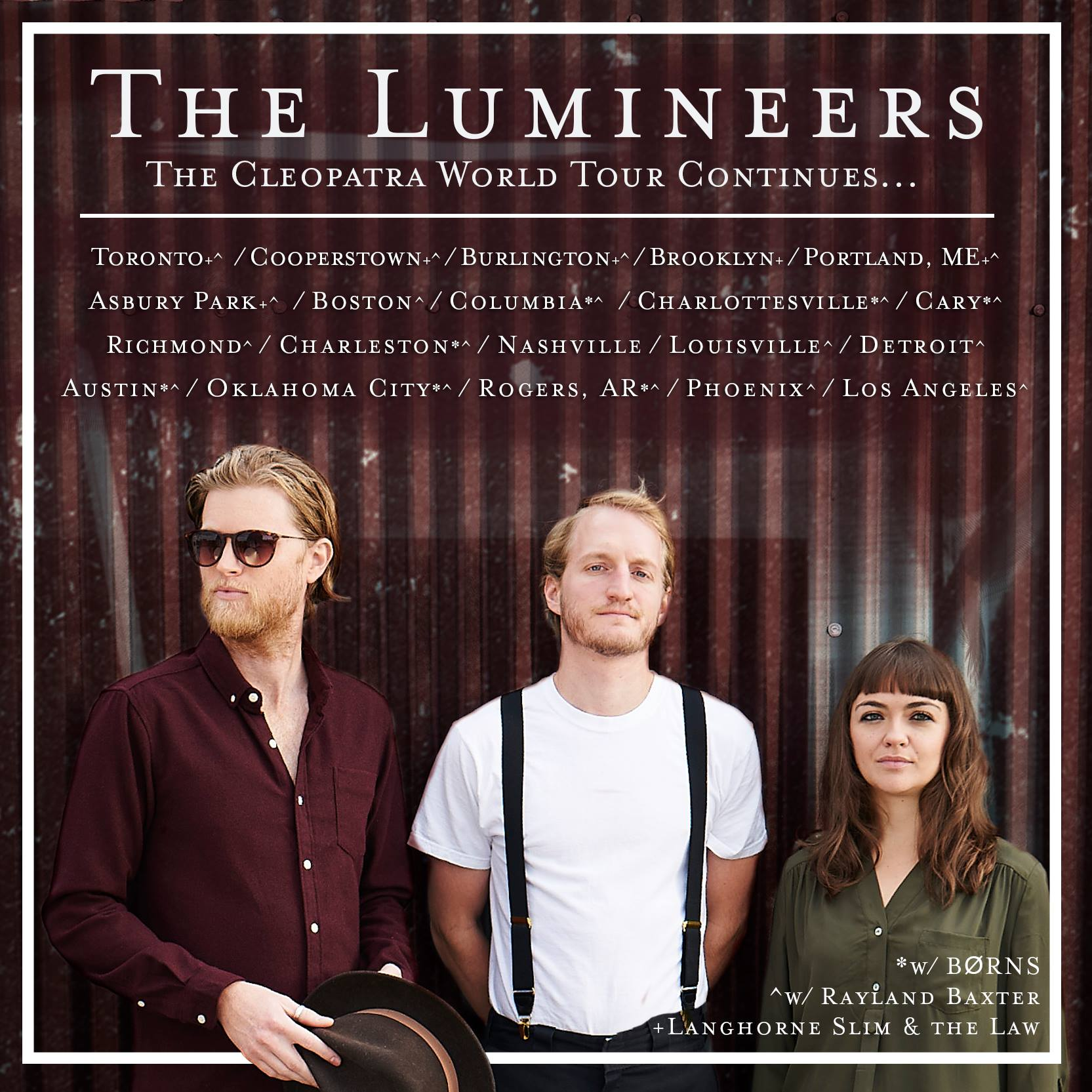 image for article The Lumineers Add 2016 Dates to the Cleopatra World Tour: Ticket Presale Code Info