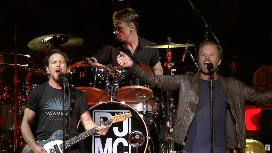 "image for article ""Driven To Tears"" - Pearl Jam & Sting at Madison Square Garden in NYC on May 2, 2016 (Police Cover) [YouTube Official Video]"