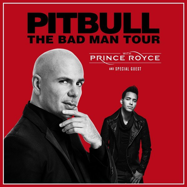 "image for article Pitbull Sets ""The Bad Man Tour"" Dates with Prince Royce for 2016: Ticket Presale Code Info"