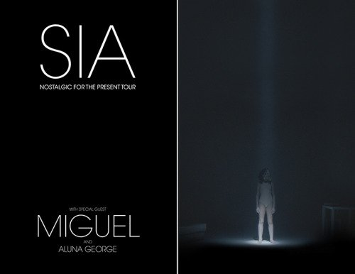 image for article Sia Plots 2016 Tour Dates with Miguel and AlunaGeorge: Ticket Presale Code Info