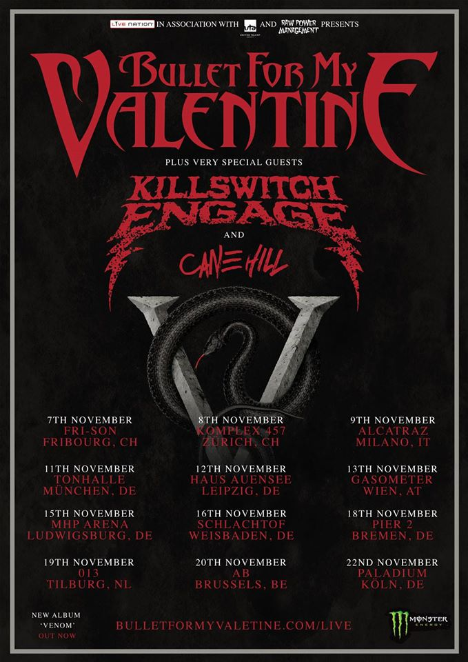 image for event Bullet For My Valentine, Killswitch Engage, and Cane Hill