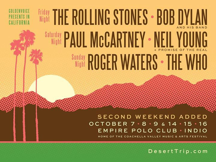 image for article Ticket Prices Rising for Once-in-a-Lifetime Desert Trip Music Festival in Indio, California