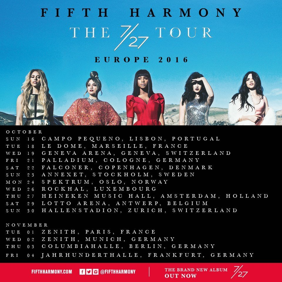 Fifth Harmony Extend 2016 Tour Dates Into Europe Ticket Presale