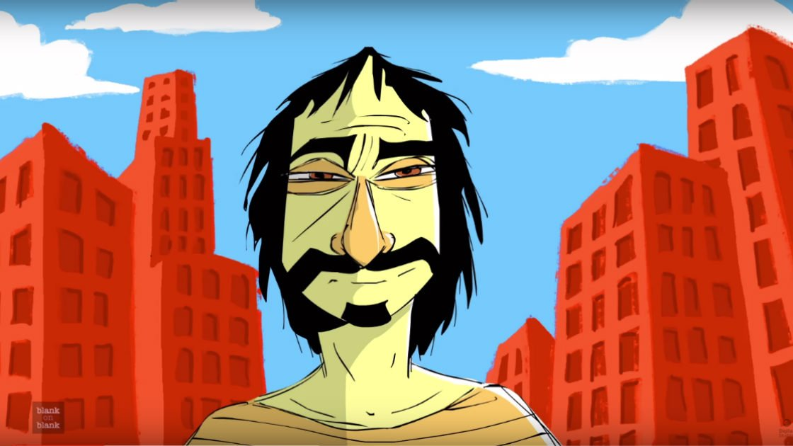 "image for article Frank Zappa Talks Shoes, Girls, and Fads in Animated PBS ""Blank on Blank"" Interview from 1971 [Youtube Video]"