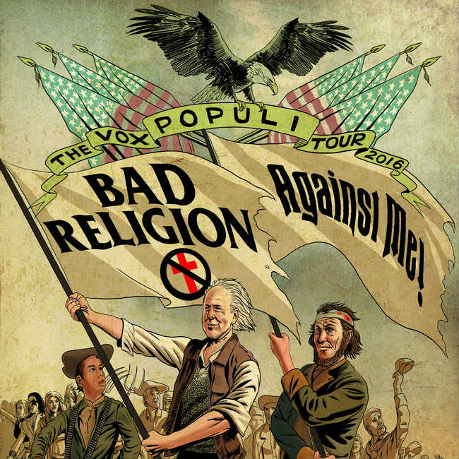 image for article Bad Religion and Against Me! Set 2016 'Vox Populi' Tour Dates: Ticket Presale Code Info