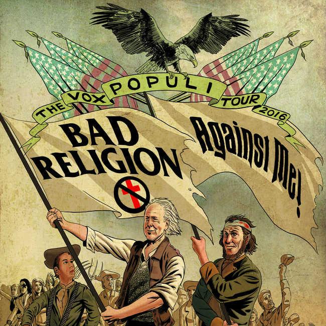bad religion and against me set 2016 39 vox populi 39 tour dates ticket presale code info zumic. Black Bedroom Furniture Sets. Home Design Ideas
